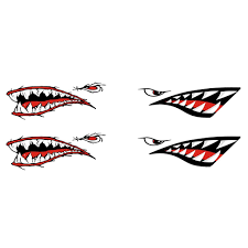 Buy Magideal 4 Pieces Shark Teeth Mouth Vinyl Decal Stickers For Kayak Canoe Dinghy Boat In Cheap Price On Alibaba Com
