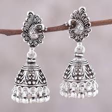peacock jhumki chandelier earrings