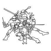 Kleurplaat Ninja Turtles 1048
