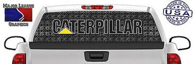 Caterpillar Cat Hoe Heavy Equipment Back Window Graphic Perforated Decal Truck Ebay
