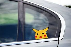 Pikachu Meme Concern Peeker Peeking Window Vinyl Decal Anime Sticker Pokemon Ebay