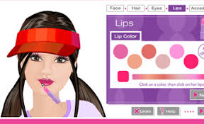 make up barbie game kids