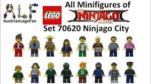 All 16 Minifigs of Lego 70620 Ninjago City - Lego Speed Build Review -  YouTube