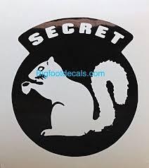 Secret Squirrel Military Window Decal Big Foot Vehicle Decals Window Decals Secret Squirrel Squirrel