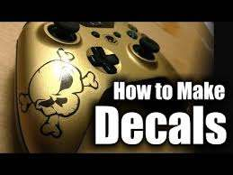 How To Make Decals And Clearcoat Them Xbox One Controllers Hd Youtube