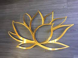 gold lotus flower metal wall art