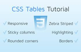 css tables tutorial responsive css
