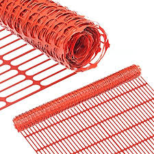 Amazon Com Abba Patio Snow Fence 4 X 100 Feet Plastic Safety Garden Fence Roll Temporary Poultry Fencing Mesh Economy Construction Fencing For Pet Rabbits Chicken Poultry Dogs Orange 1 25 Mesh