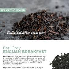 earl grey english breakfast tea of