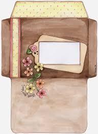 Flowers Free Printable Envelopes Sobres Decorados Cartas Para