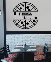 Ik2496 Wall Decal Sticker Pizza Delivery Italian Restaurant Pizzeria S Stickersforlife