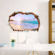 Wall Sticker 3d Beach Family Home Decor Bedroom Living Room Tv Wall Sticker Mural Cute Wallpaper Door Stickers 11dec25 Removable Vinyl Wall Decals Removable Wall Art From Supper007 2 43 Dhgate Com
