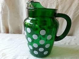 fireking vintage emerald green glass