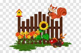 Fence Drawing Cartoon Garden Wood Transparent Png