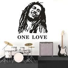 Reggae Music Star Wall Decal One Love Bob Marley Vinyl Wall Art Sticker Home Decoration Bob Marley Music Vinyl Poster Az213 Wall Stickers Aliexpress