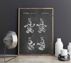 Legos Man Patent Toy Wall Art For Lego Love Posters Kids Room Decor Print Blueprint Gift Ideas Games Wall Decorations Painting Calligraphy Aliexpress