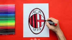How to draw AC Milan Logo - YouTube