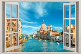 Children S Bedroom Boy Decor Decals Stickers Vinyl Art Venice City Landscape 3d Window Decal Wall Sticker Home Art Mural Views J316 Home Garden Vibranthns Lk