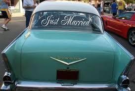 Simple Wedding Getaway Car Decals By Wicksncandlesticks