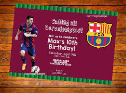 Barcelona Fcb Futbol Soccer Personalized Invitation Digital