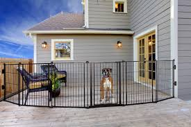 Carlson Pet Products 3 In 1 Weather Resistant Outdoor 144 Inch Wide Pet Gate Pen And Fence Bonus Includes Small Pet Door