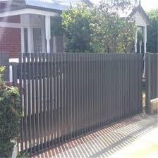 China Steel Slat Bar Panel Gate Aluminum Fencing Vertical Slat Bar Fence China Aluminum Fence Slat Fence