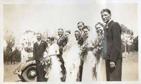 Campbell Genealogy - Reg Pascoe, Joyce Campbell, Russ and Margaret Martin,  Gordon Campbell, Peter Murphy, Effie Hamilton (nee Campbell), Marion Fealey  and Bill Hamilton.