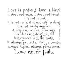 Love Is Patient Love Is Kind 1 Corinthians 13 Vinyl Wall Decal Etsy