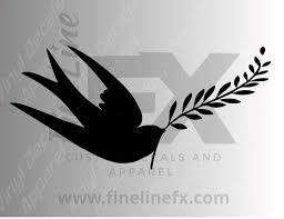 Swallow Bird Symbol Of Peace Vinyl Decal Sticker