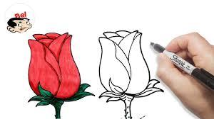 رسم زهور بالرصاص ورود ترسم ببساطه للمبتدئين افخم فخمه