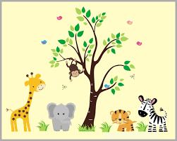 Jungle Animal Decal Nursery Boys Room Wall Sticker Jungle Animal Wall Mural