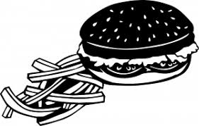 Cheeseburger And French Fries Car Or Truck Window Decal Sticker Rad Dezigns
