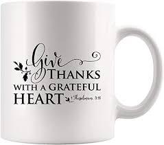 com give thanks grateful heart inspirational coffee