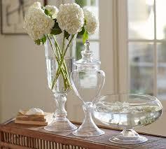 voluminous clear glass vases pottery barn
