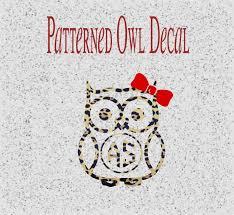 Monogram Owl Decal