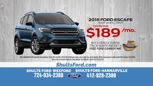 lease a 2018 ford escape for just 189