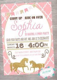 Vintage Pony Horse Birthday Baby Shower Party Invitation