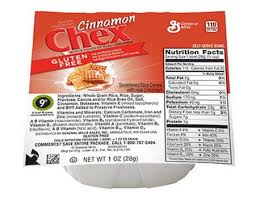 cereal chex cinnamon gluten free ss