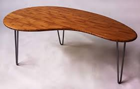 coffee cocktail table kidney bean