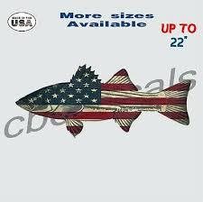 American Flag Striped Bass Vinyl Decal Sticker Fishing Car Truck Window Decals Ebay