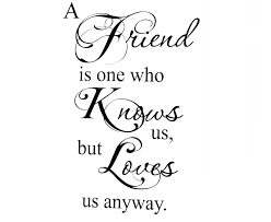 Wall Decal Sticker Quote Vinyl Art Lettering A Friend Loves Us Friendship Sticker Iphone Stickers Elephantsticker Wall Art Aliexpress