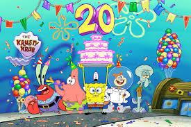 Feliz Cumpleanos Bob Esponja Ya Son 20 Anos De Nuestro Animado