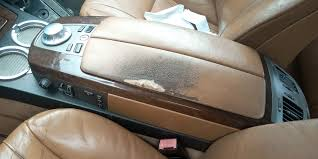 repair of torn leather vehicle seat