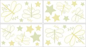 Green Dragonfly Dreams Peel And Stick Wall Decal Stickers Art Nursery Decor By Sweet Jojo Designs Set Of 4 Sheets Only 8 96