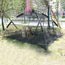 Foldable Pet Tent Portable Outdoor Travel Kennel Fence Cat Anti Mosquito House Cat Sleeping Cage Teepee Kitten Playpen Wish