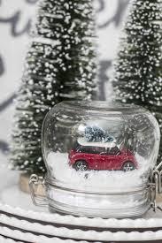 diy mini cooper snow globe this christmas