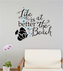 Life Is Better At The Beach Fish Vinyl Decal Wall Stickers Letters Words Home Decor