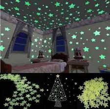 Home Wall Light Green Glow In The Dark Star Stickers Decal Baby Kids Room 100pcs 4099467130654 Ebay