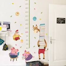 Giraffe Height Chart Wall Sticker Growth Chart Amimal Wall Stickers For Kids Room Zoo Decal Removable Wall Decal Xl8381 Wall Stickers Aliexpress