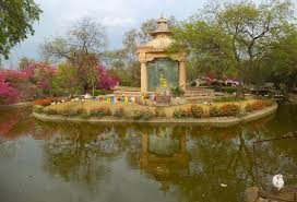 buddha garden new delhi stock photos